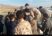 حضور فرماندههای کل سپاه در مناطق زلزلهزده کرمانشاه