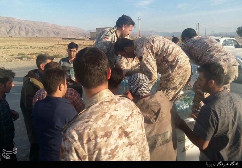 امدادرسانی سپاه پاسداران به زلزله زدگان کرمانشاه