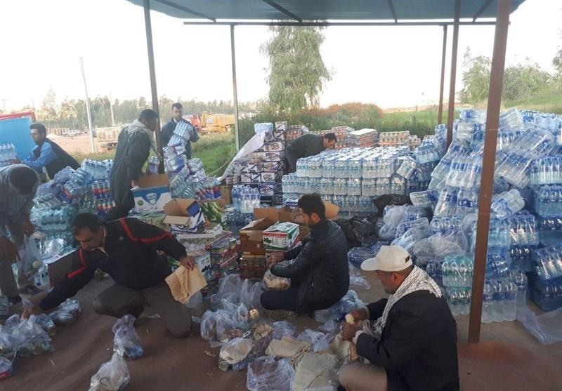 زلزله کرمانشاه| توزیع اقلام مورد نیاز مردم توسط قرارگاه خاتمالانبیا سپاه + تصاویر