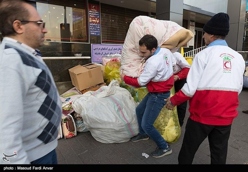 کاروان کمکهای هلال احمر بانه به مناطق زلزله زده کرمانشاه اعزام شد