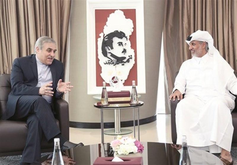 دیدار سفیر ایران با رئیس فدراسیون فوتبال قطر در دوحه