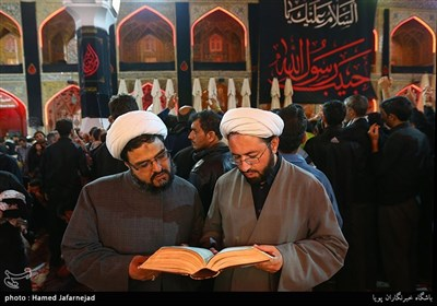زائران حرم حضرت علی(ع) در نجف اشرف