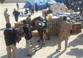 زلزله کرمانشاه| توزیع 152 هزار بطری آب، کنسرو و پتو توسط بسیج بین زلزلهزدگان