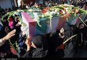 پیکر مطهر 5 شهید تازه تفحص شده دوران دفاع مقدس -شیراز
