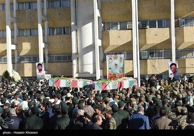 تشییع پیکر مطهر 5 شهید تازه تفحص شده دوران دفاع مقدس -شیراز