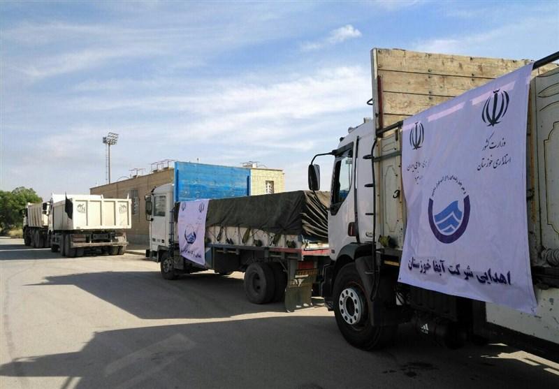 بخشی از آب آشامیدنی مورد نیاز مناطق زلزلهزده توسط آبفای خوزستان تأمین میشود