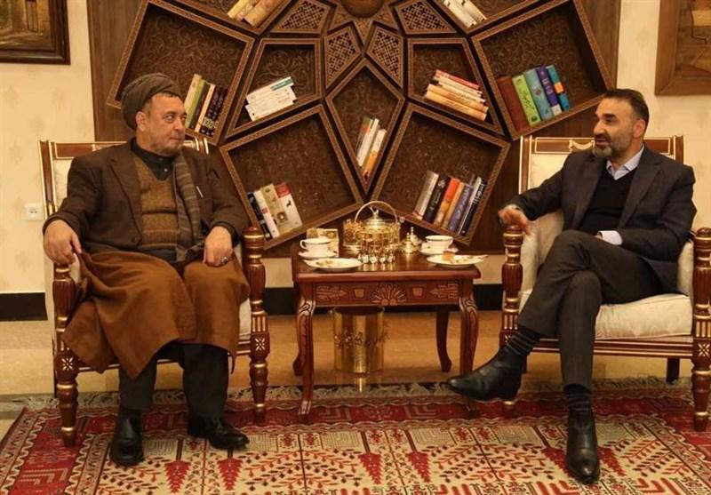 اجماع سیاسی؛ محور دیدار معاون عبدالله و والی بلخ در شمال افغانستان + عکس