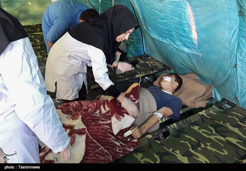 اقدامات پزشکی سپاه در مناطق زلزله زده