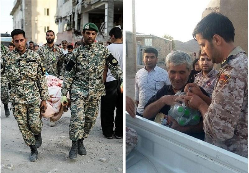 زلزله کرمانشاه| تشکر مردم از نیروهای مسلح با هشتگ #ارتش_سپاه_مچکریم + عکس