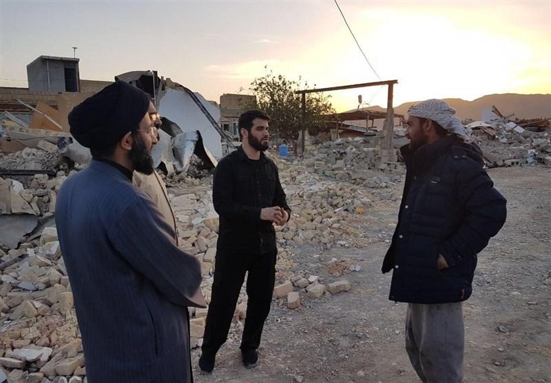 حضور &#۱۷۱;میثم مطیعی&#۱۸۷; در روستاهای زلزله زده سر پل ذهاب
