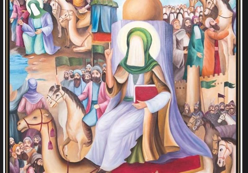 پرده نقاشی زندگانی امام رضا (ع) با نام «از مدینه تا مرو» رونمایی شد