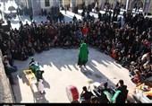 آئین تعزیهخوانی در آستان مقدس ابناء موسیبن جعفر(ع) جوپار برگزار شد + تصاویر