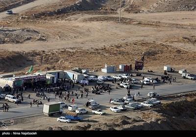 تصاویر هوایی پیاده روی زائران رضوی - مشهد