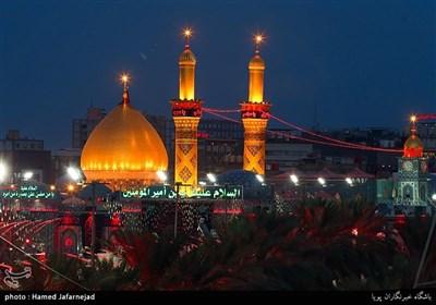 عزاداری زائران اربعین حسینی در بین الحرمیت کربلا