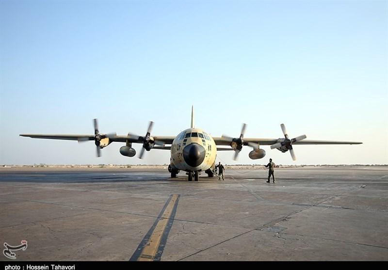 """اورهال یک فروند هواپیمای """"C-130"""" در پایگاه شهید دوران نهاجا"""
