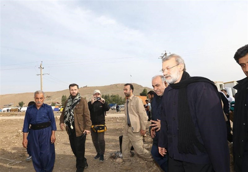 لاریجانی : ینبغی اعادة اعمار المنازل المدمرة فوراً