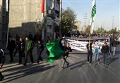 پیادهروی جاماندگان ارض طوس در دیار 15 خرداد به روایت تصویر