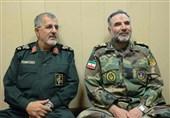 دیدار صمیمی فرماندهان نیروی زمینی ارتش و سپاه در کرمانشاه