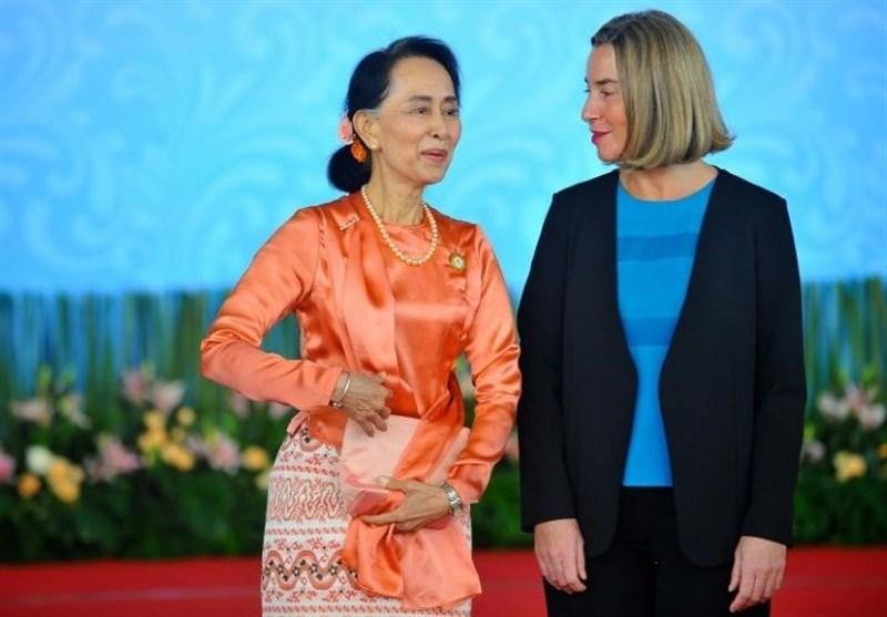 EU's Mogherini 'Encouraged' by Rohingya Talks with Suu Kyi