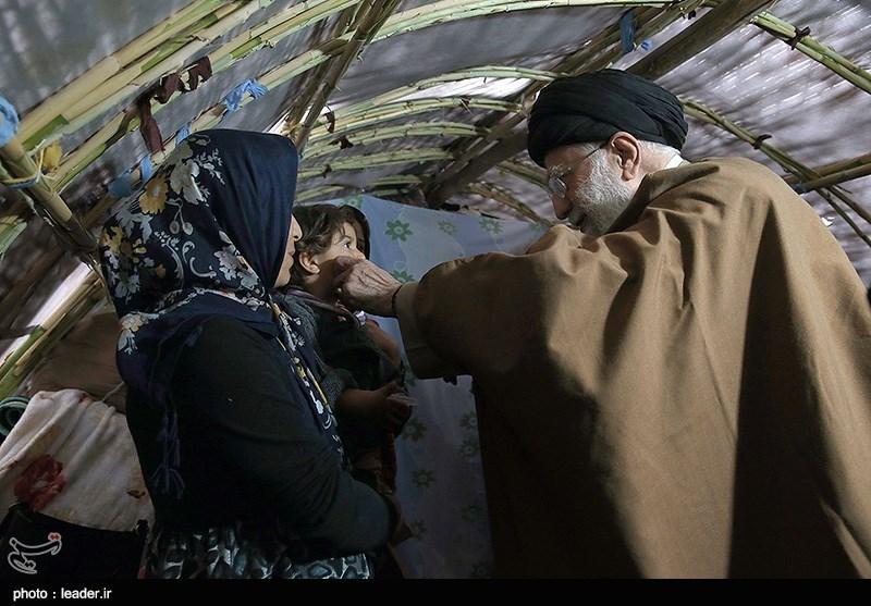 بازدید رهبر معظم انقلاب از مناطق زلزله زده