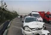 35 نفر بر اثر تصادف زنجیرهای محور قزوین-کرج مصدوم شدند