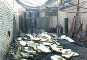 متصاعد شدن دود بسیار خطرناک در پی آتشسوزی در کارگاه تولید اسفنج