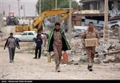 حضور مدافعین حرم در مناطق زلزله زده