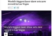بزرگترین نمایش لیزری جهان