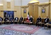 روحانی: سران جهان به ترامپ خندیدند