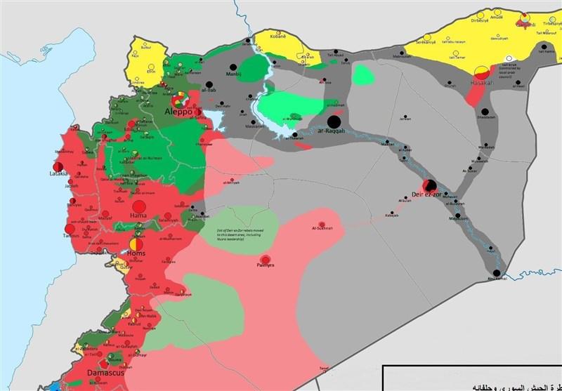 ۷۰درصد سوریه چگونه از تکفیریها پس گرفته شد؟ + نقشه