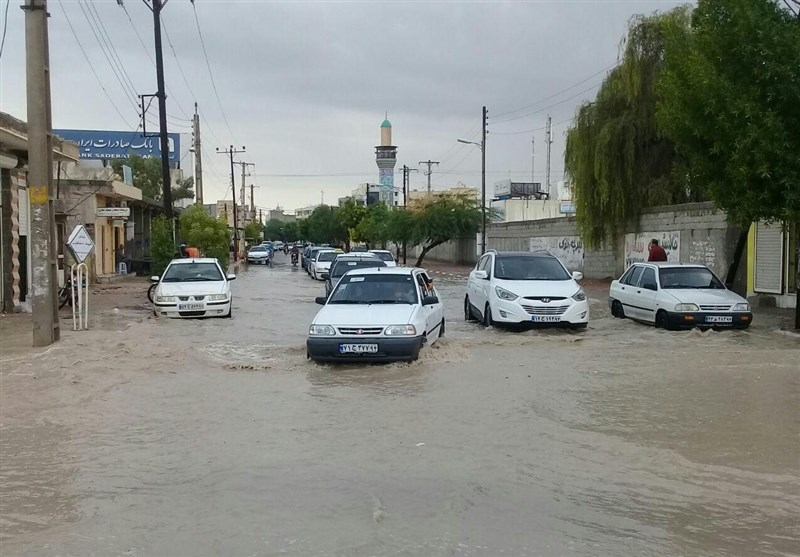 خیابان های بندرعباس سیل آبگرفتگی