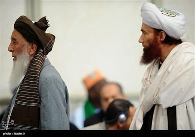 استقبال قائد الثورة الاسلامیة للمشارکین فی مؤتمر محبو أهل البیت(ع) وقضیة التکفیریین