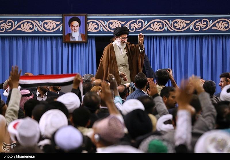 دیدار شرکتکنندگان در اجلاس محبان اهل بیت (ع) و مسئله تکفیریها با امام خامنهای