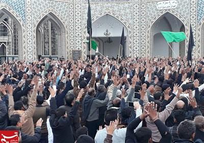 حرم امام رضا علیہ السلام میں پاکستانی ماتمداروں کا باشکوہ اجتماع