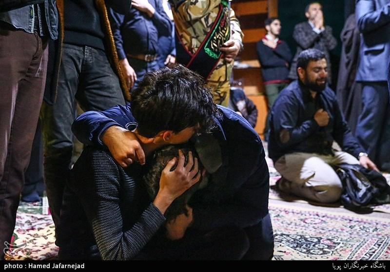 وداع با پیکر مطهر شهید مدافع حرم حمیدرضا ضیایی