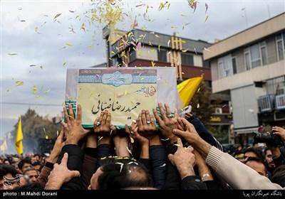 تشییع پیکر شهید مدافع حرم حمیدرضا ضیایی