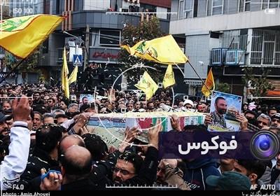 فوکوس-تشییع پیکر شهید مدافع حرم حمیدرضا ضیایی