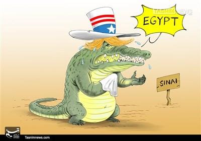 کاریکاتور/ اشکتمساح ترامپ پدرخوانده تروریسم