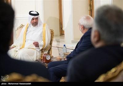 بالصور // ظریف یلتقی وزیر الاقتصاد القطری فی طهران