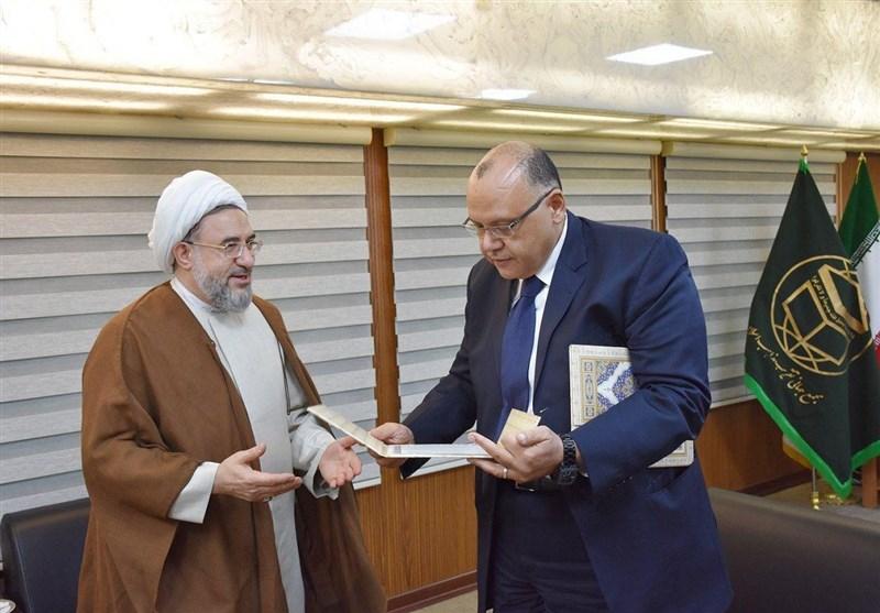آیة الله اراکی یدعو شیخ الازهر للمشارکة فی المؤتمر الدولی للوحدة الاسلامیة