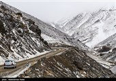 برف ارتفاعات کیاسر را سفیدپوش کرد
