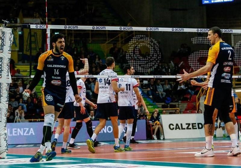 سری A والیبال ایتالیا|شماره پیراهن معنوینژاد و شریفی مشخص شد + عکس