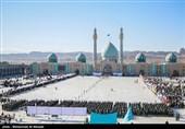 """صبحگاه مشترک """"بیعت با امام"""" در مسجد مقدس جمکران برگزار شد"""