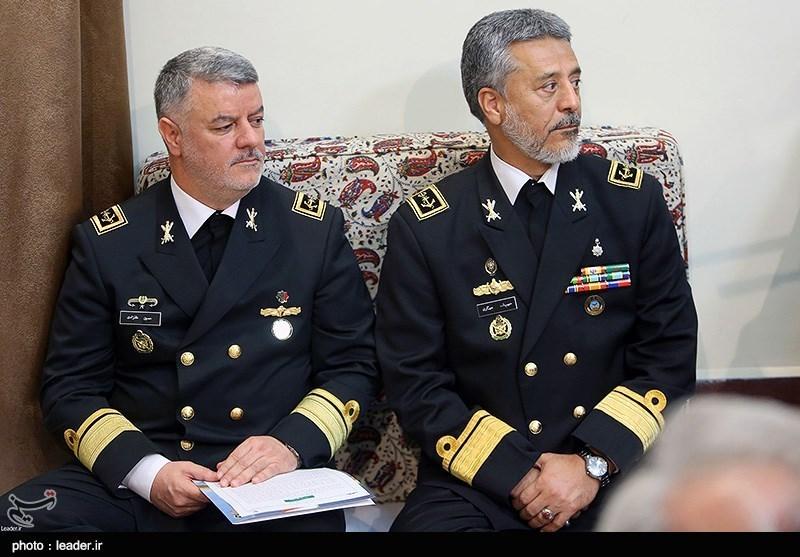 Iranian Navy Commanders Meet Leader