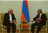 دیدار ظریف با رئیس جمهور ارمنستان