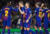 بارسلونا با برتری قاطع صعود کرد
