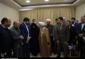 دیدار آیت الله جوادی آملی با جمعی از مدیران کمیته امداد