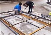 راهاندازی کارگاه ساخت کانکس برای زلزلهزدگان در اهواز + تصاویر