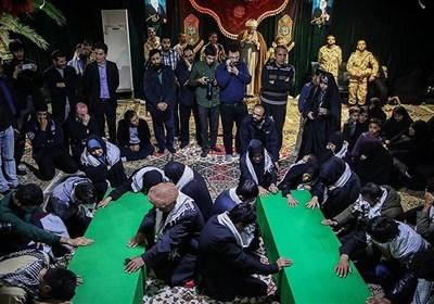 مراسم وداع با پیکر دو شهید مدافع حرم لشکر فاطمیون