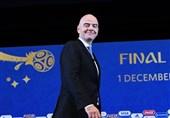 رئیس فیفا وارد عربستان شد + عکس